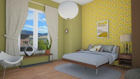 Mid Century Bedroom 1 - Retro - Bedroom - by corbu_cat