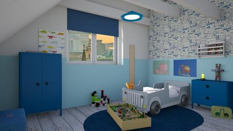 Small boy - Masculine - Kids room - by augustmoon