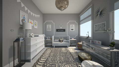 b - Eclectic - Kids room - by nataliaMSG