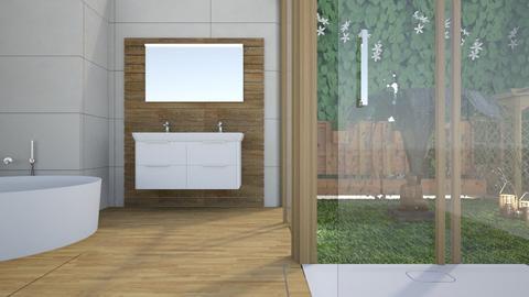Jungle bathroom - Bathroom - by Miss MH