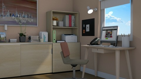 Pastel Office - Office - by meggle