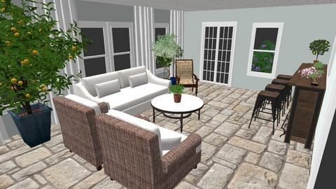Sunroom w French Doors - Garden - by AKLM81818