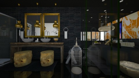 little golden divider - Modern - Bathroom - by sometimes i am here