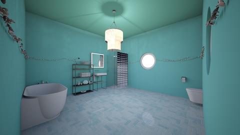 feeling teal - Bathroom - by gbrown782
