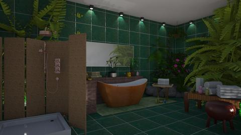 jungle bathroom - by ilcsi1860