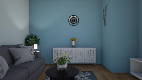 Blue Living Room - Classic - Living room - by Melodie1312