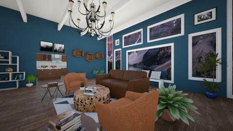 Blue Living - Living room - by LaughingDonut