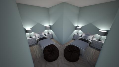 Twin Bedroom - Bedroom - by Galaxy Warrior