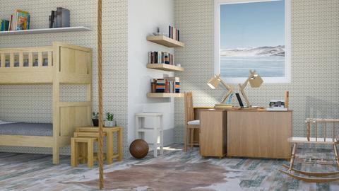 bunk bedroom - Bedroom - by BortikZemec