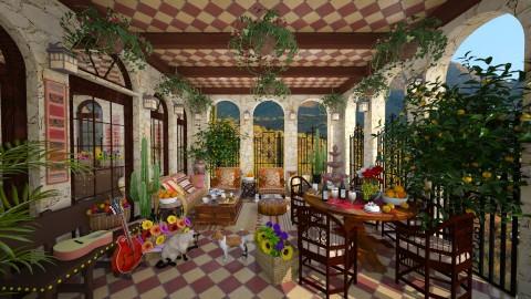 Mexican Patio - Garden - by lydiaenderlebell