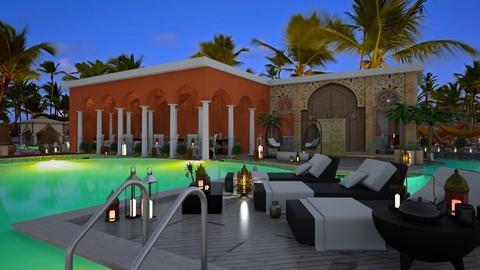 Resort pool - by soralobo