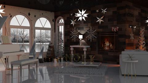 Christmas Stars - Living room - by Sue Bonstra