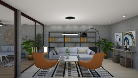 Industrial modern living  - by maribel
