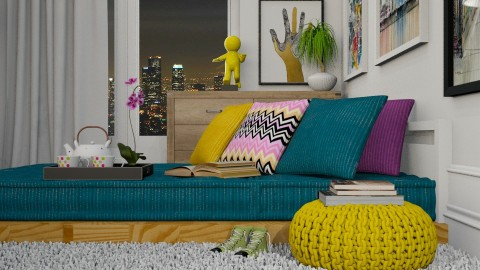 Um olhar a mais - Living room - by Sanare Sousa