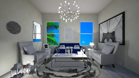 A spot of blue - Living room - by Katreena Rose