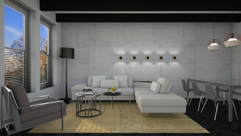 Gray Masc - Masculine - Living room - by 3rdfloor