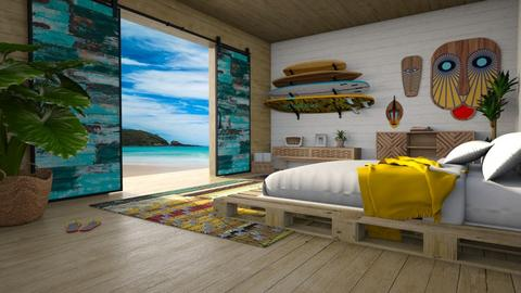 surf bedroom - Bedroom - by miadesign