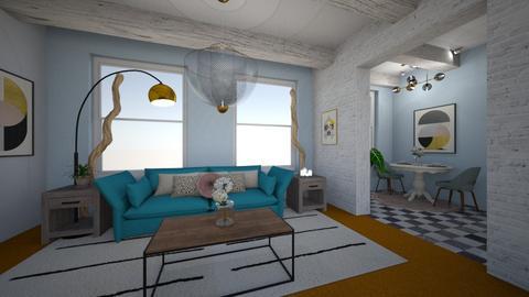 Orange Carpet - Bedroom - by Rachel_Starlanda