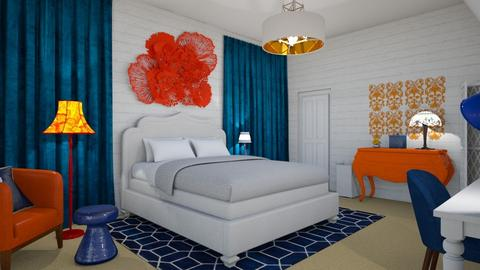 Blue and Orange Contest - Eclectic - Bedroom - by PFrate