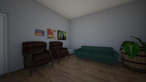 greens and browns 2 - Living room - by BLOBy2