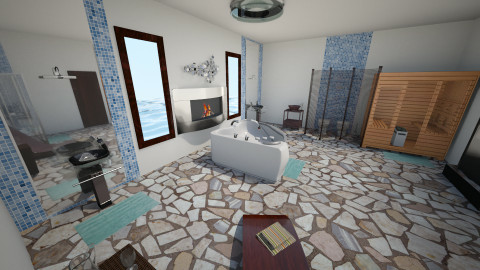 bath - Rustic - Bathroom - by ngan dinh