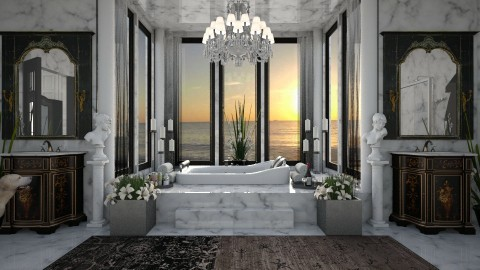 Design 301 Luxury Marble Bath - Bathroom - by Daisy320