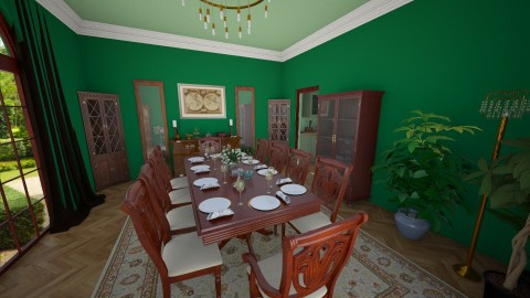 Malachite Dining - Classic - Dining room - by k8manion