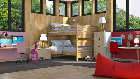 Bunk Beds - Kids room - by GraceKathryn