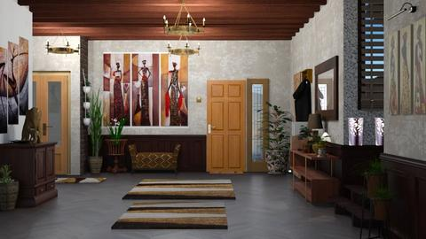 Urban Jungle Hallway - by nat mi