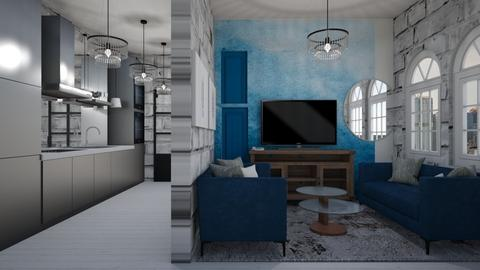 blue blue - Living room - by cguy67