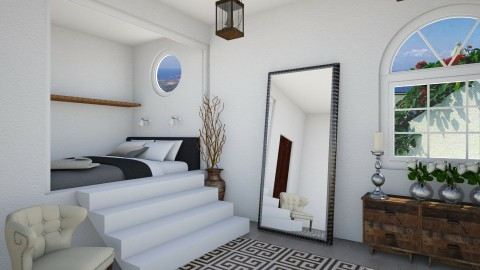 Greek Bedroom - Bedroom - by roosbarmentlo