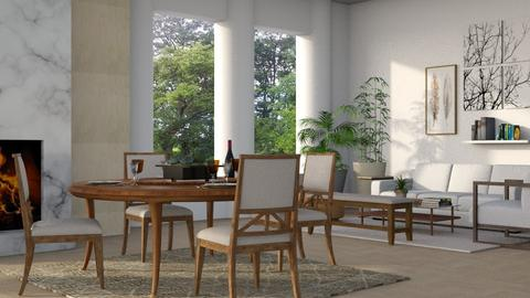 Dining Living Combo - Modern - Dining room - by millerfam