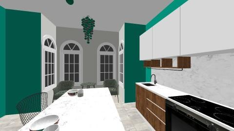 green kitchen - Kitchen - by bethanyann