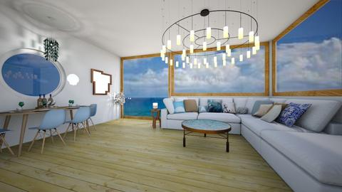 coastal living room - Living room - by avawrightthewrightone