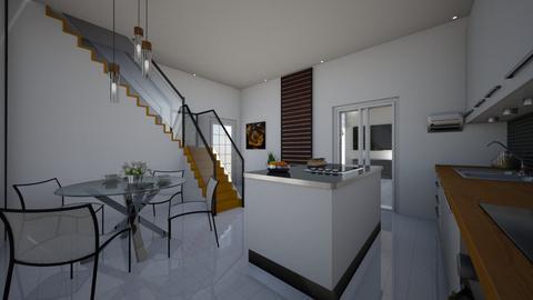 SALON ZESCHODAMI I TARASE - Living room - by DERRYS