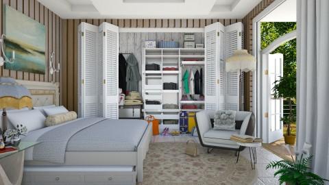 a practical bedroom  - Eclectic - Bedroom - by Ida Dzanovic