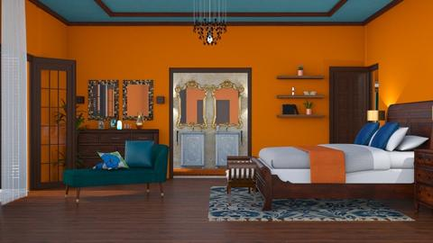 orange_blue oasis - by antonia_b
