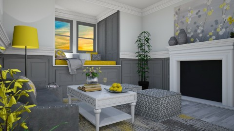 Hello Yellow - Classic - Living room - by Kathran
