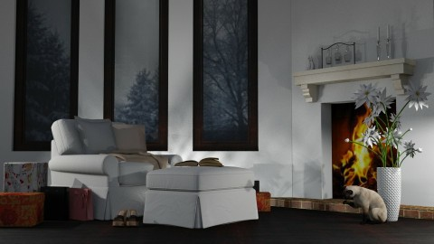 By the Fire - Modern - Living room - by millerfam