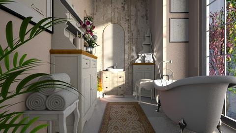 shabby chic bathroom - Bathroom - by BortikZemec