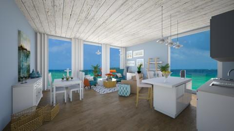 beach house - Living room - by stephaniedelios1992