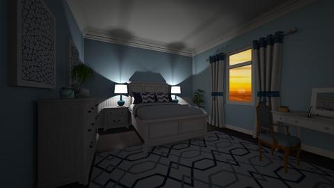 Daniels Blue bedroom - Modern - Bedroom - by senewby