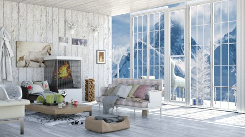 Winter Cabin - Modern - Living room - by InteriorDesigner111