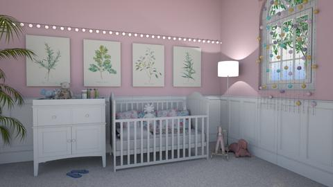 Sweet and pink - Classic - Kids room - by marysiawiszniowska