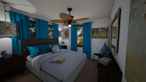Sm Spaces_11X11_half_Bdrm - Eclectic - Bedroom - by SherryDW