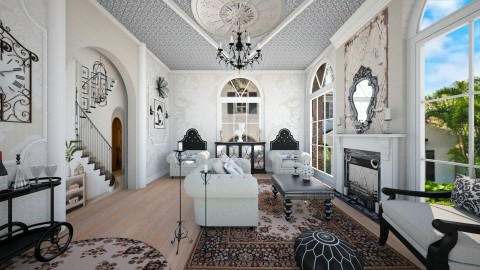 Spanish Revival - Living room - by steph01mami