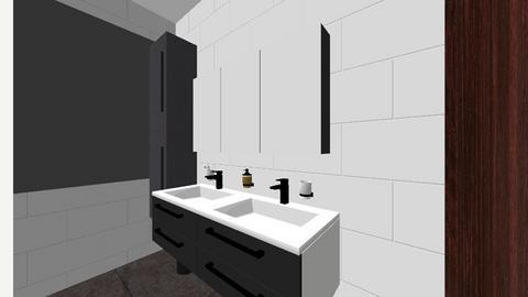 Badkamer met muur  - Bathroom - by skivits