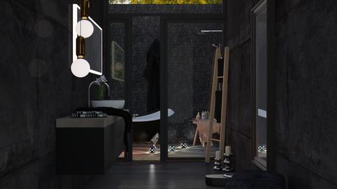 Dark - Bathroom - by Ebru Tekneci