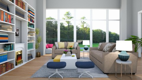 beautiful living room  - Glamour - Living room - by tekle