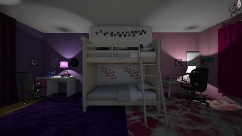 Pink and Purple Twins - Bedroom - by lilly_mist